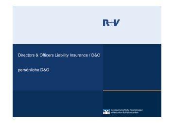 Directors & Officers Liability Insurance / D&O persönliche D&O ...
