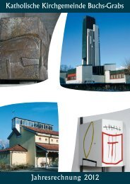 Jahresrechnung 2012 Katholische Kirchgemeinde Buchs-Grabs