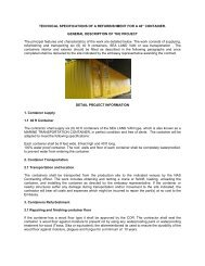TECHNICAL SPECIFICATIONS OF A REFURBISHMENT FOR A 40 ...