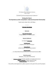 Driving the Future: The Importance of the Transatlantic Trade and ...