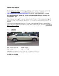 Embassy Vehicle for Sale
