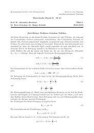 Theoretische Physik B SS 10 Blatt 1 20.04.2010 Zwei-Körper Problem