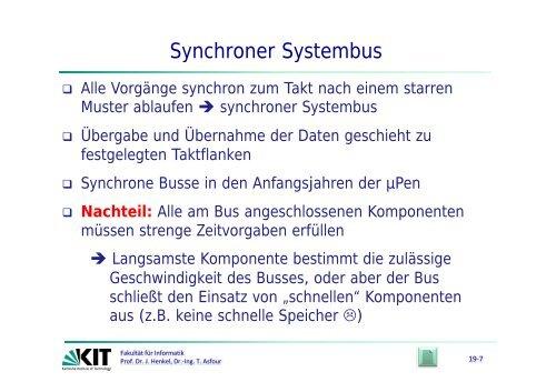semi synchroner Systembus