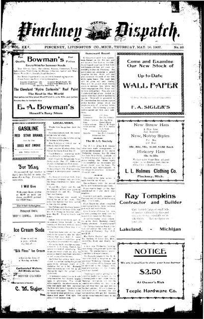05-16-1907 - Village of Pinckney