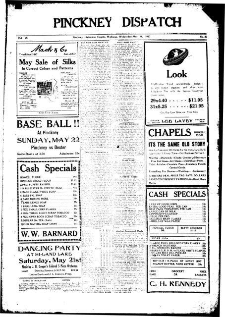 05-18-1927 - Village of Pinckney