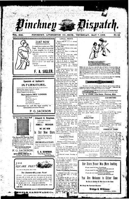 05-07-1903 - Village of Pinckney