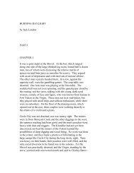 BURNING DAYLIGHT by Jack London PART I ... - Pink Monkey