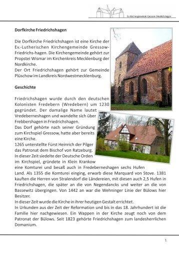 Dorfkirche Friedrichshagen Die Dorfkirche Friedrichshagen ist eine ...