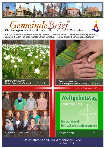 Brief Brief GemeindeBrief - Evangelische Kirche in Mecklenburg ...