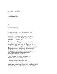 THE GREAT GOD PAN by ARTHUR MACHEN I ... - PinkMonkey.com