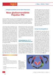 Neue glasfaserverstärkte Polyether-TPU - Plasticker