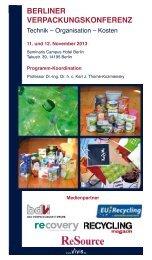 Programm - Berliner Verpackungskonferenz - Plasticker
