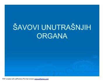 savovi unutrasnjih organa