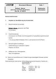Serumwerk Memsen Seite 1 Rotlauf - Serum Zul.-Nr.: A 152 ... - DIMDI