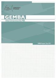 Global Entrepreneurship MBA
