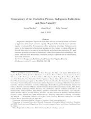 Transparency of the Production Process, Endogenous Institutions ...
