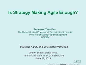 Preview of Prof. Doz's presentation
