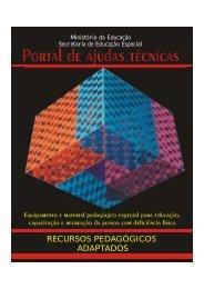 RECURSOS PEDAGÓGICOS ADAPTADOS - Ministério da Educação