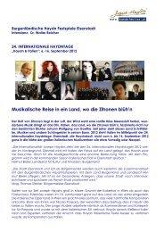Saison- bzw. Festivalprogramm herunterladen - Klassik.com