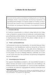 Leitfaden zur Erstellung von Hausarbeiten - Albert-Ludwigs ...