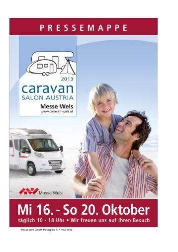 Caravan Salon Austria 2013 Pressemappe - Messe Wels