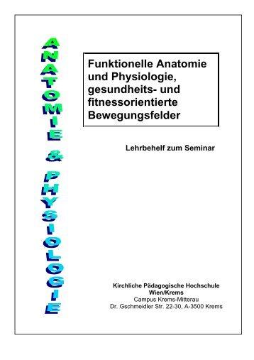 Funktionelle Anatomie und Physiologie, gesundheits - pro.kphvie.at ...