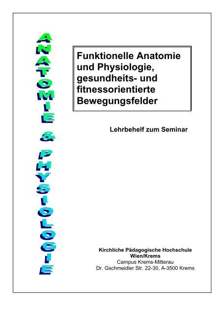Funktionelle Anatomie Und Physiologie Gesundheits Pro