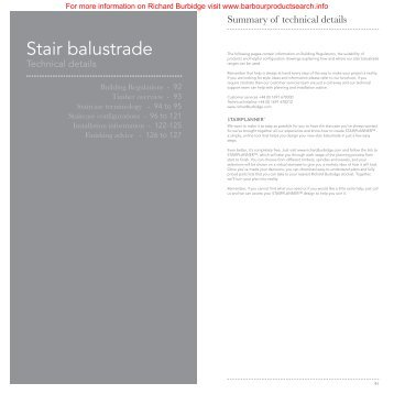 The Details Technical Section - Stair and Outdoor Balustrades
