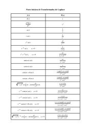 Pares básicos de Transformadas de Laplace ƒ(t) F(s)