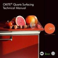 OKITE® Quartz Surfacing Technical Manual OKITE ... - Sweets