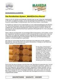 """Das Rundbohlen-System """"MAHEDA-Duo-Round"""" - Blockhaus Barth"""