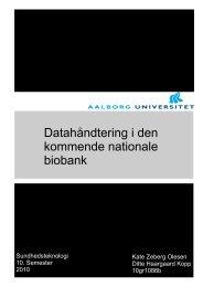 Datahåndtering i den kommende nationale biobank - Aalborg ...