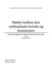 Mødet mellem den voldsudsatte kvinde og kommunen - Aalborg ...