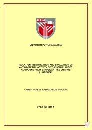 universiti putra malaysia isolation, identification and evaluation of ...