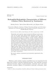 Hydrophilic/Hydrophobic Characteristics of Different Cellulose ...