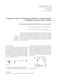 Comparative Study of 1,5-Dinitrogen Schiff Bases as Potential ...