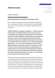 Read more... - Steinemann Technology AG