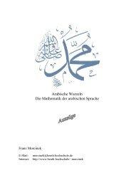 Arabische Wurzeln Die Mathematik der arabischen Sprache