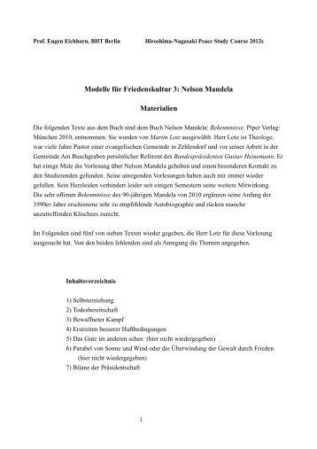 Modelle für Friedenskultur 3: Nelson Mandela Materialien - Beuth ...