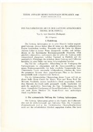A Magyar Természettudományi Múzeum évkönyve 33. (Budapest ...