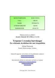 Terpener i svenska barrskogar - Chalmers tekniska högskola