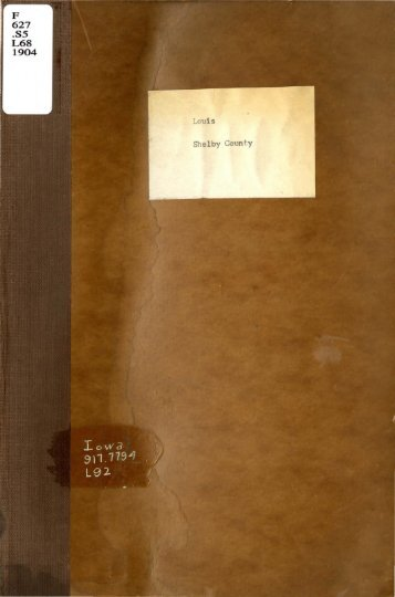 F .S5 L68 1904 Louis Shelby County - Iowa Publications Online ...