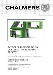 impact of 4d modeling on construction planning process - Chalmers ...