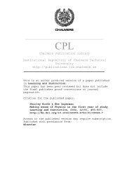 Chalmers Publication Library Institutional Repository of Chalmers ...