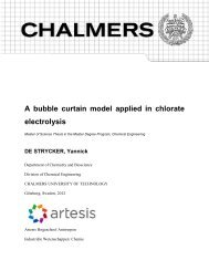 A bubble curtain model applied in chlorate electrolysis