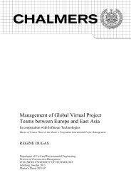 Management of Global Virtual Project Teams between Europe and ...