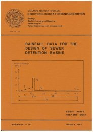 Rainfall data for the design of sewer detention basins