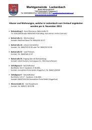 Immobilien Lackenbach - Marktgemeinde Lackenbach