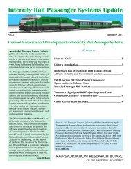 Intercity Rail Passenger Systems Update - Transportation Research ...