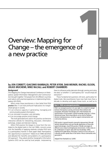 Mapping for Change – the emergence of a new practice - IIED pubs